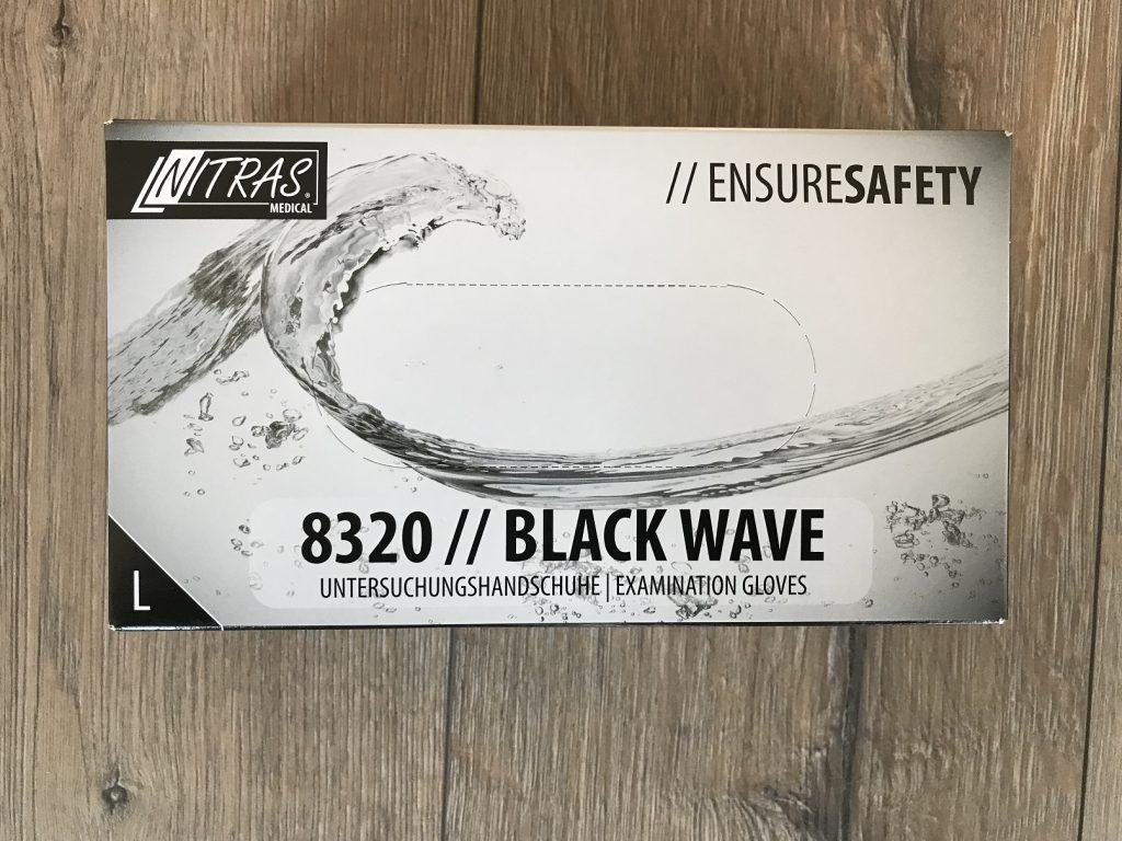 Einweghandschuhe schwarz Karton