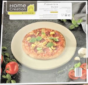 Pizzastein rund Karton