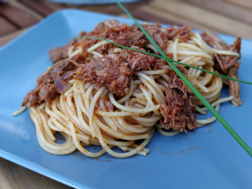 Pulled-Pork Spaghetti