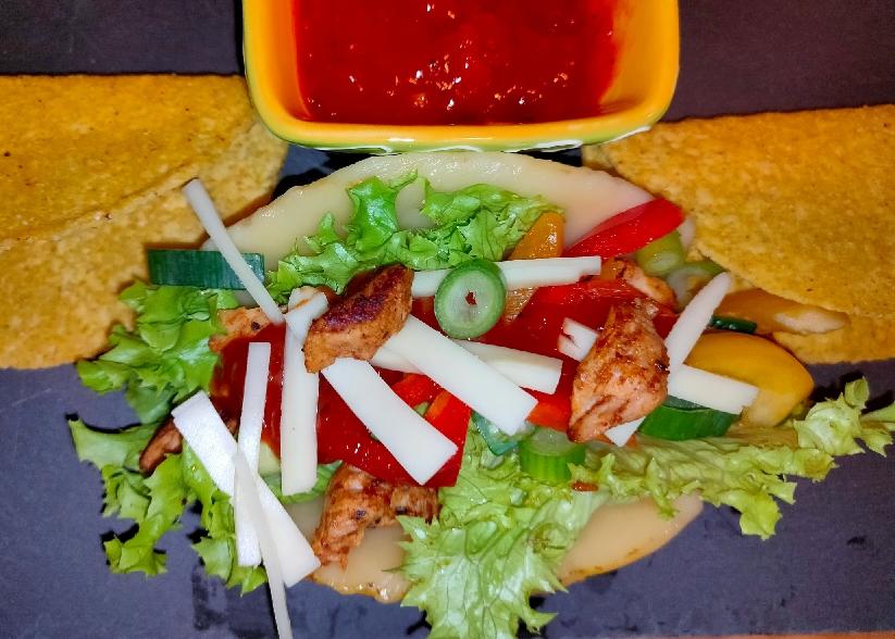 Käse-Puten-Tacos