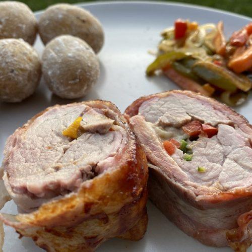 Schweinefilet mit kanarischen Salzkartoffeln und Grillgemüse