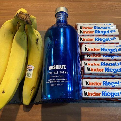 Zutaten für gegrillte Bananen