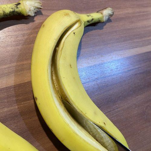 aufgeschnittene Banane