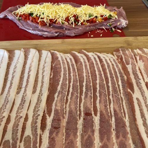 ausgelegter Bacon