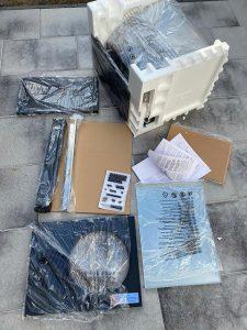 ausgepackter Karton des LIDL Tepro Gasgrills