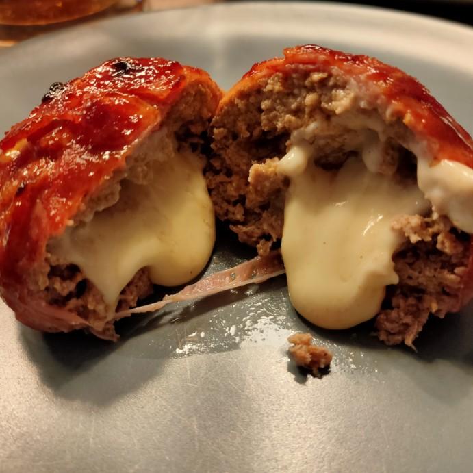 Rezept für Moinkballs / Baconballs vom Gasgrill